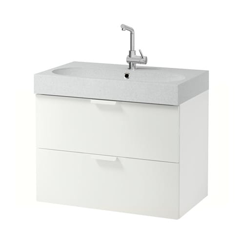 Godmorgon br viken sink cabinet with 2 drawers white for Meuble pour lavabo sur pied