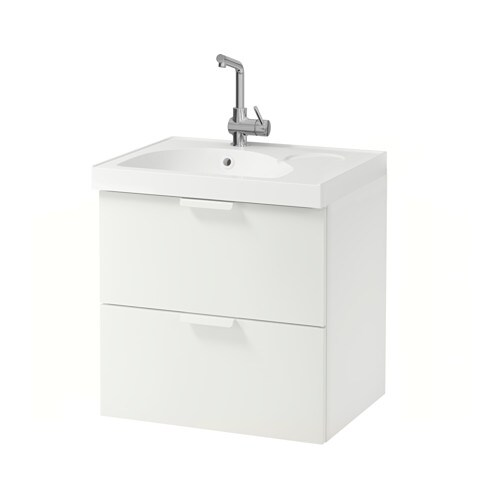 godmorgon edeboviken sink cabinet with 2 drawers white