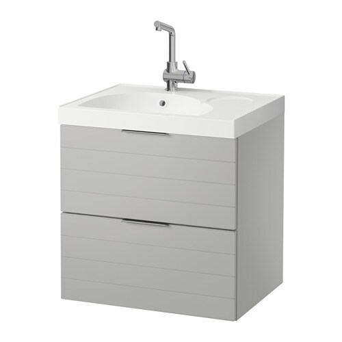 godmorgon edeboviken sink cabinet with 2 drawers light