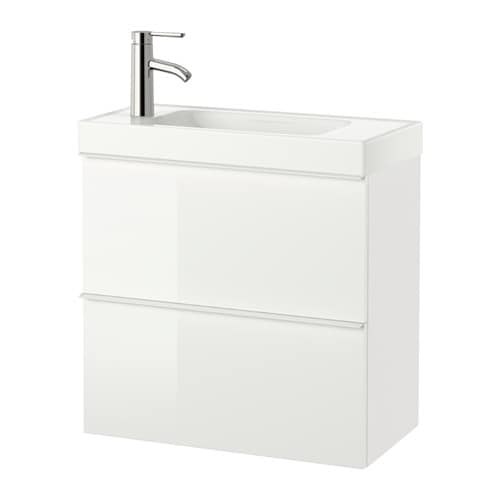 godmorgon hagaviken sink cabinet with 2 drawers high gloss white ikea. Black Bedroom Furniture Sets. Home Design Ideas
