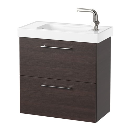 Bathroom Sinks With Cabinet godmorgon / hagaviken sink cabinet with 2 drawers - black-brown - ikea