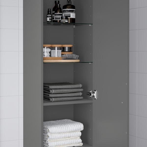 "GODMORGON High cabinet, Gillburen dark gray, 15 3/4x12 5/8x75 5/8 """