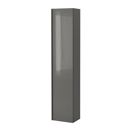 High Gloss Grey Cabinets Ikea: GODMORGON High Cabinet