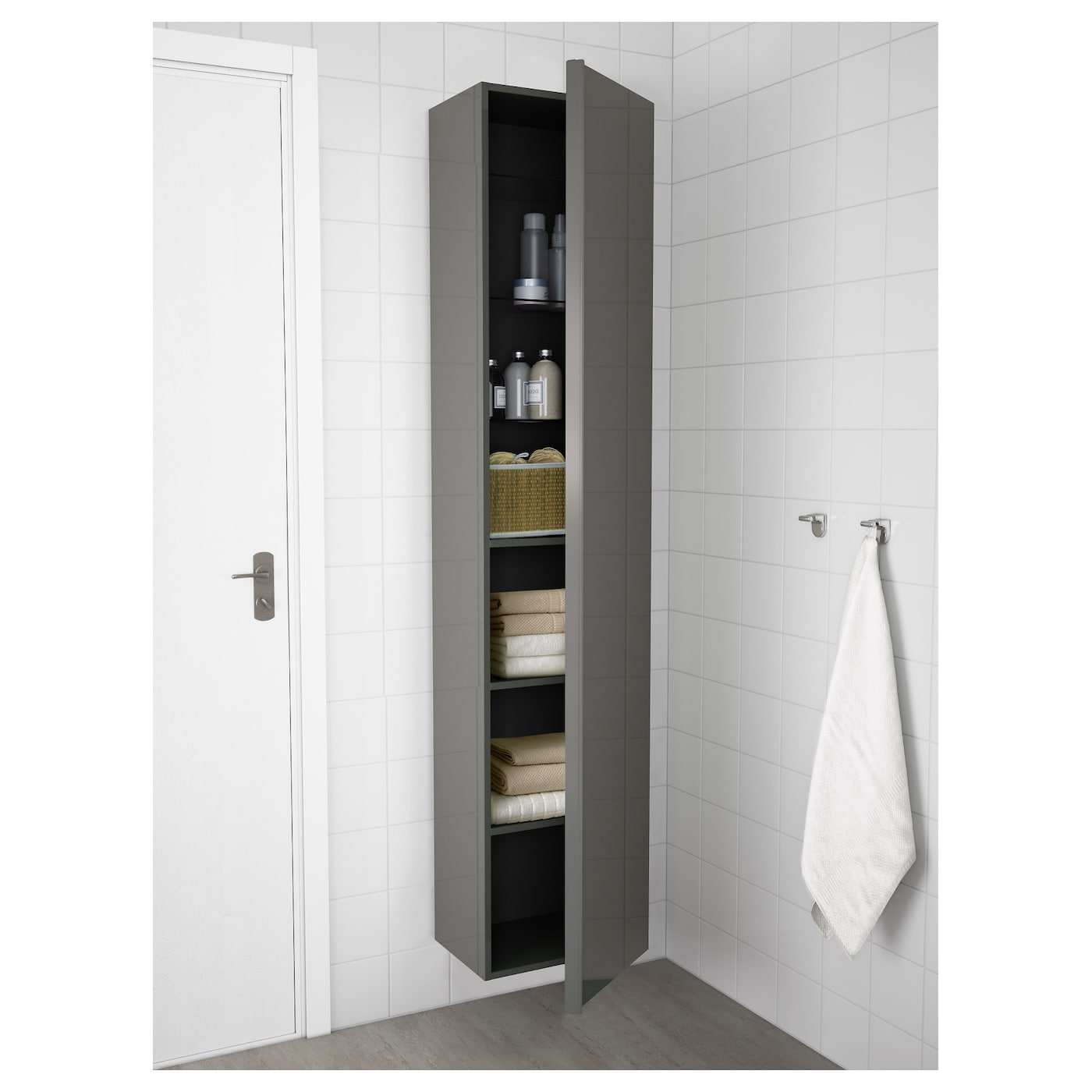 Morgon High Cabinet Gloss Gray