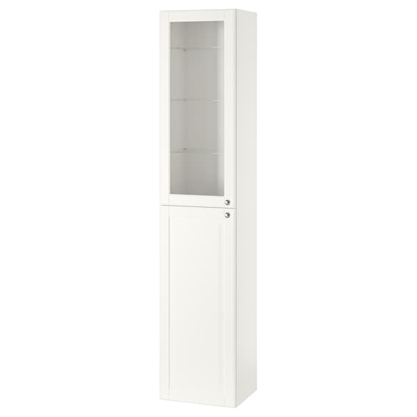 "GODMORGON High cabinet, Kasjön white, 15 3/4x12 5/8x75 5/8 """