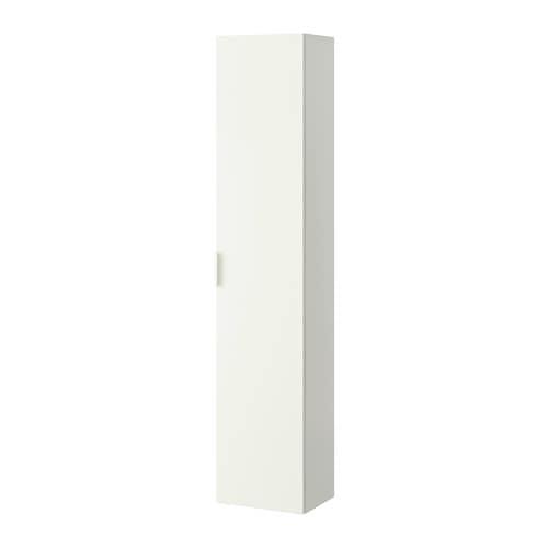 GODMORGON High cabinet, white white 15 3/4x12 5/8x75 5/8