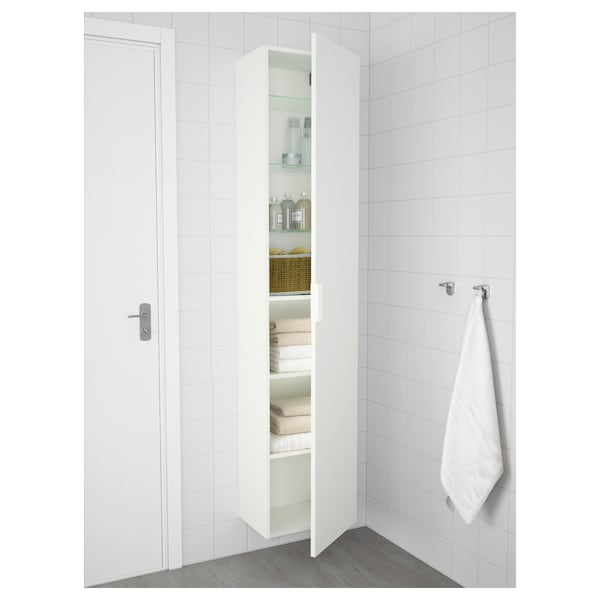 "GODMORGON High cabinet, white, 15 3/4x12 5/8x75 5/8 """
