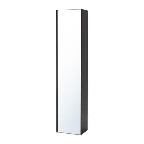 Godmorgon high cabinet with mirror door high gloss gray - Armoire a pharmacie ikea ...