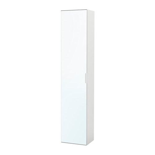 GODMORGON High cabinet with mirror door - white - IKEA