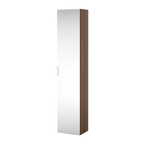 godmorgon high cabinet with mirror door walnut effect ikea. Black Bedroom Furniture Sets. Home Design Ideas
