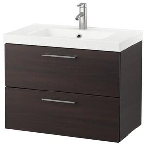 Color: Black-brown/dalskär faucet.