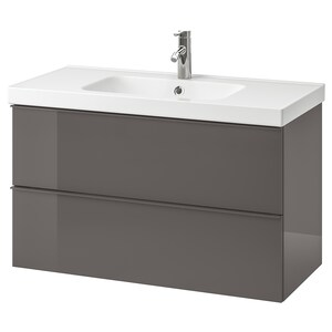 Color: High gloss gray/dalskär faucet.