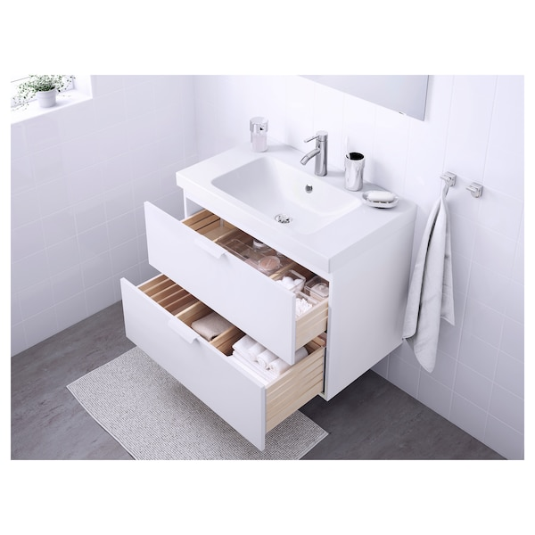 GODMORGON / ODENSVIK Sink cabinet with 2 drawers, white/Dalskär faucet, 32 5/8x19 1/4x25 1/4 ""