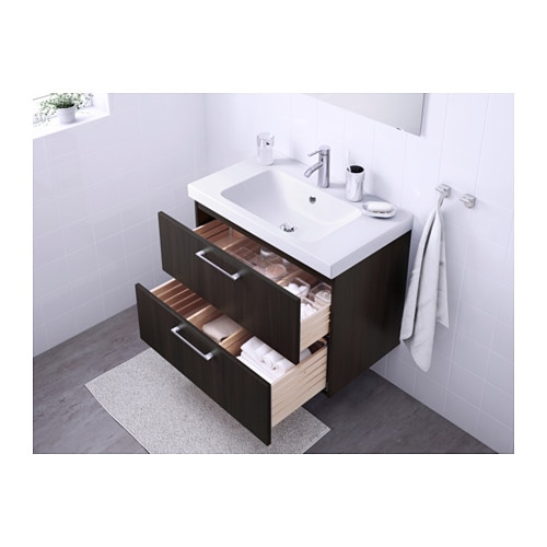 GODMORGON   ODENSVIK Sink cabinet with 2 drawers   high gloss white  31  1 2x19 1 4x25 1 4     IKEA. GODMORGON   ODENSVIK Sink cabinet with 2 drawers   high gloss