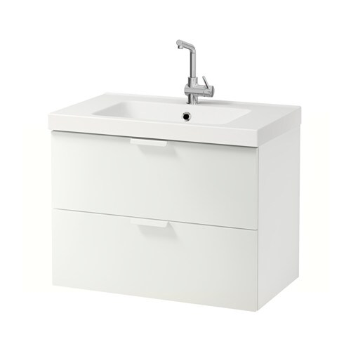 godmorgon odensvik sink cabinet with 2 drawers high gloss white 31 12x19 14x25 14 ikea