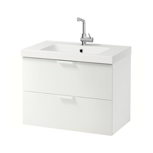 Ikea Bathroom Sink Cabinets. Godmorgon Odensvik Sink Cabinet With 2 Drawers High Gloss Gray 83x49x64 Cm Ikea