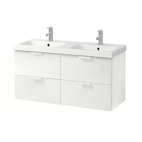 GODMORGON / ODENSVIK Sink cabinet with 4 drawers IKEA 10-year Limited Warranty.   Read about the terms in the Limited Warranty brochure.