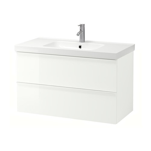 GODMORGON / ODENSVIK Sink cabinet with 2 drawers IKEA 10-year Limited  Warranty. Read - GODMORGON / ODENSVIK Sink Cabinet With 2 Drawers - High Gloss