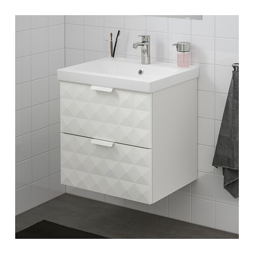 GODMORGON / ODENSVIK Sink cabinet with 2 drawers - white - IKEA