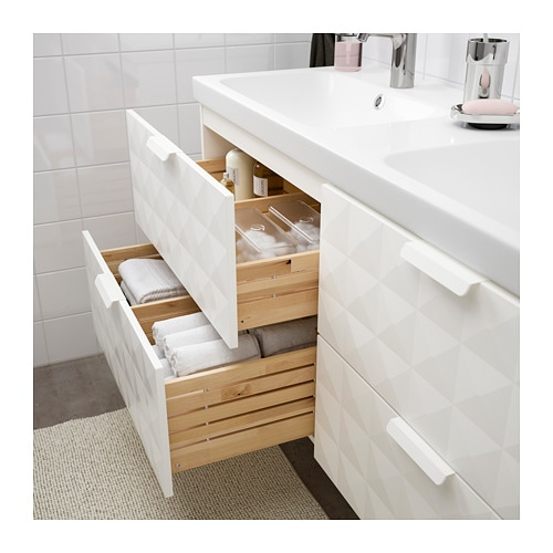 GODMORGON / ODENSVIK Sink Cabinet With 4 Drawers   White Stained Oak Effect    IKEA