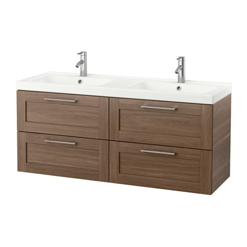 Godmorgon Odensvik Sink Cabinet With 4 Drawers Walnut Effect Ikea