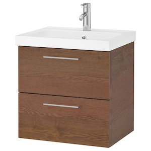 Color: Brown stained ash effect/dalskär faucet.