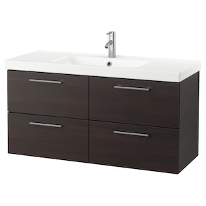 Color: Black-brown/dalskär faucet.