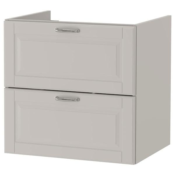 "GODMORGON Sink cabinet with 2 drawers, Kasjön light gray, 23 5/8x18 1/2x22 7/8 """