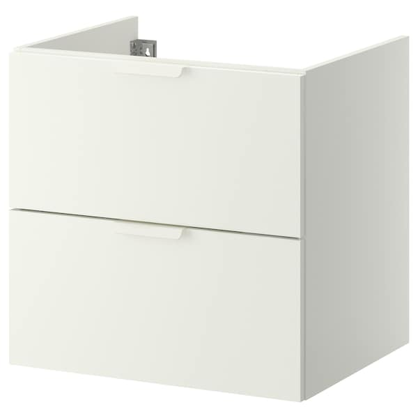 """GODMORGON Sink cabinet with 2 drawers, white, 23 5/8x18 1/2x22 7/8 """""""