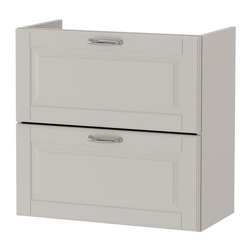 GODMORGON Sink cabinet with 2 drawers, Kasjön light gray Kasjön light gray 23 5/8x12 5/8x22 7/8