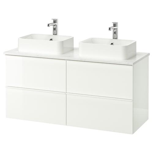 Godmorgon Tolken Hörvik Cabinet Top 17 3 4x12 2 8 Sink High Gloss White Marble Brogrund Faucet 48x19 1 4x28 3 8 Ikea