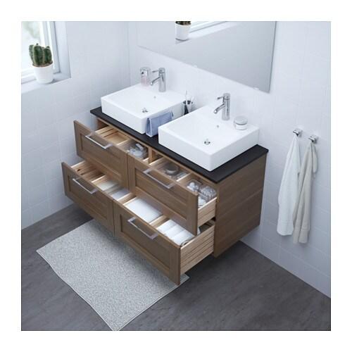 vanity countertop with sink. GODMORGON TOLKEN  T RNVIKEN Vanity countertop and 17 3 4 sink anthracite high gloss gray IKEA