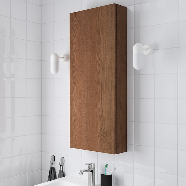 Godmorgon Wall Cabinet With 1 Door Brown Stained Ash Effect 15 3 4x5 1 2x37 3 4 Ikea