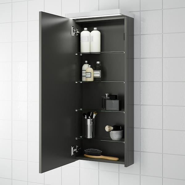 Godmorgon Wall Cabinet With 1 Door High Gloss Gray 15 3 4x5 1 2x37 3 4 Ikea