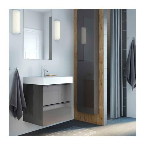 . GODMORGON Wall cabinet with 1 door   walnut effect   IKEA