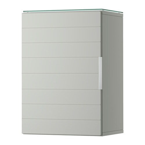 GODMORGON Wall cabinet with 1 door light gray IKEA