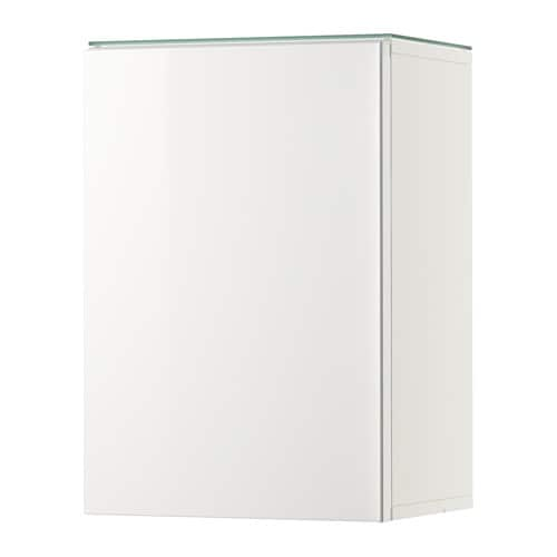 godmorgon wall cabinet with 1 door high gloss white 15