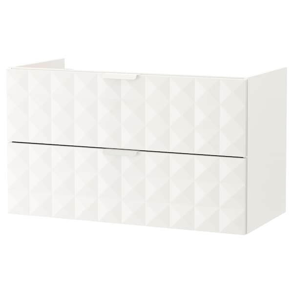 """GODMORGON sink cabinet with 2 drawers Resjön white 39 3/8 """" 18 1/2 """" 22 7/8 """""""