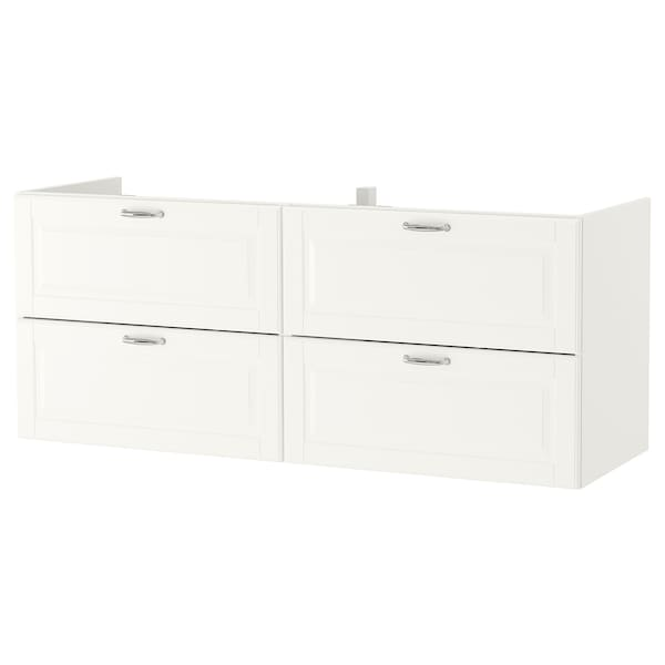 "GODMORGON sink cabinet with 4 drawers Kasjön white 55 1/8 "" 18 1/2 "" 22 7/8 """