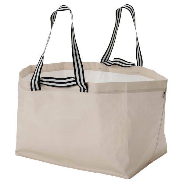 "GÖRSNYGG Shopping bag, large, light beige, 22 ½x14 ½x15 ¼ ""/2401 oz"