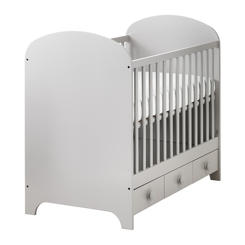 GONATT Crib IKEA The bed base can be placed at two different heights.