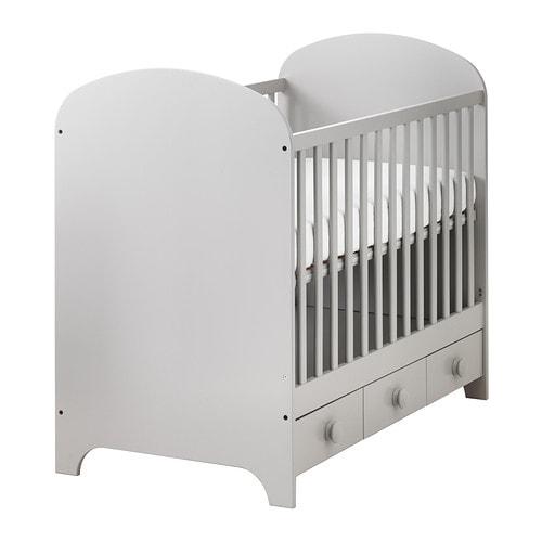 GONATT Crib, light gray light gray 27 1/2x52