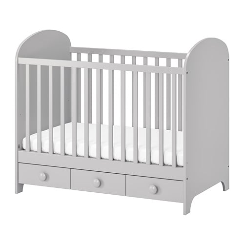 GONATT Crib, light gray light gray 27 1/2x52