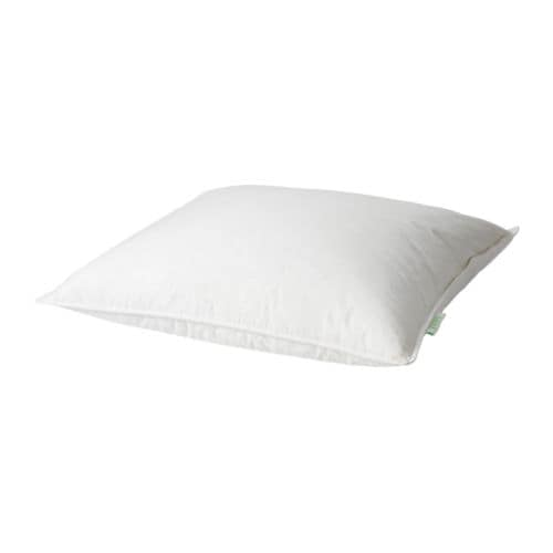 GOSA RAPS Pillow, stomach sleeper IKEA A low profile down pillow for those who prefer sleeping on their stomach.