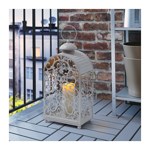 GOTTGÖRA Lantern for block candle IKEA The warm light from the candle shines decoratively through the pattern on the lantern.