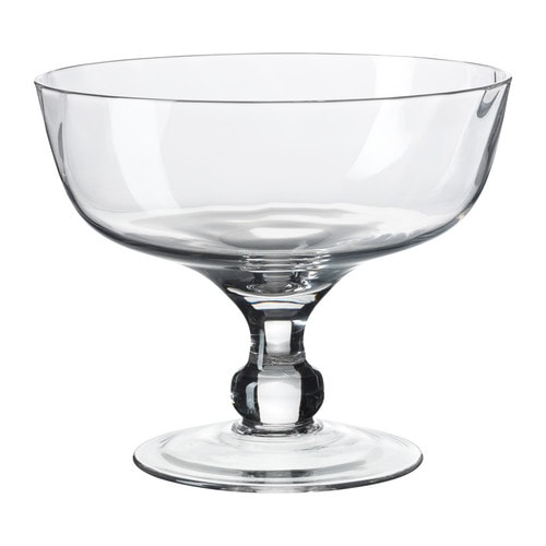 GOTTIS Serving bowl IKEA Mouth blown glass.   Each bowl has been shaped by a skilled craftsman.