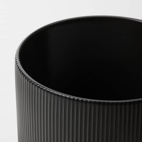 """GRADVIS Plant pot, indoor/outdoor black, 6 """""""