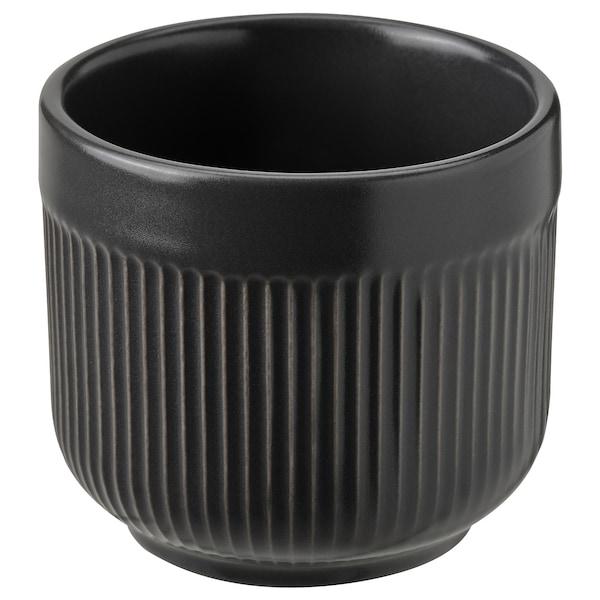 """GRADVIS Plant pot, indoor/outdoor black, 2 ¼ """""""