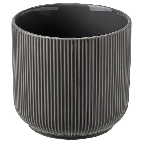 """GRADVIS Plant pot, indoor/outdoor dark gray, 4 ¾ """""""