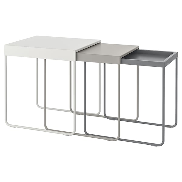 "GRANBODA nesting tables, set of 3 19 5/8 "" 18 7/8 "" 18 1/8 "" 18 7/8 "" 13 "" 15 3/4 "" 14 5/8 "" 18 7/8 "" 18 7/8 """